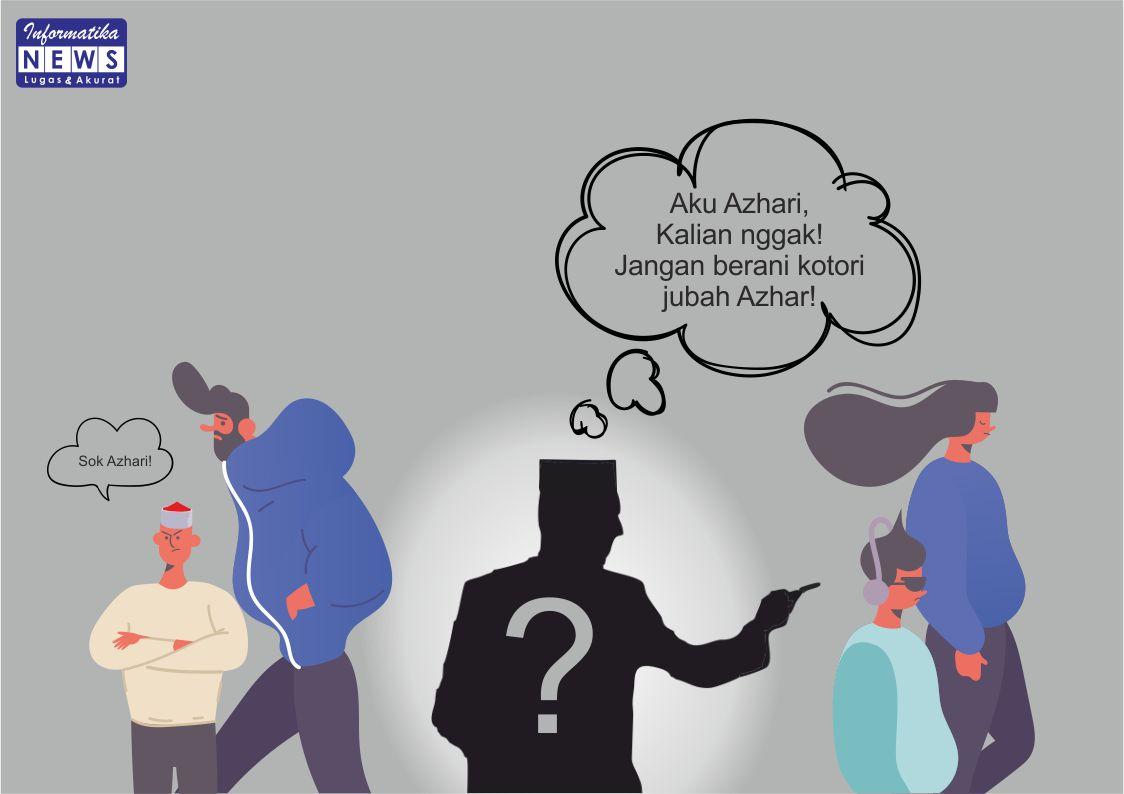 Ilustrasi orang yang mengaku sebagai Azhari. (Sumber: Informatika/Defri)
