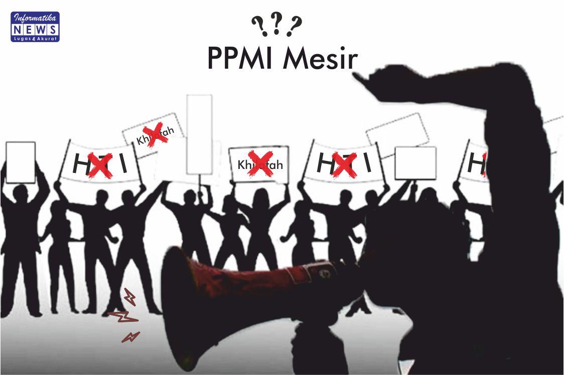 Ilustrasi PPMI Mesir yang mendapatkan respon negatif dari Masisir. (Sumber: Informatika/The Shine)